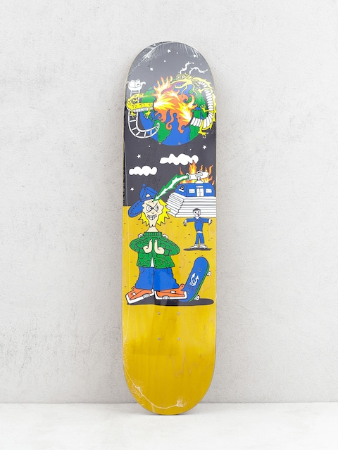Deck Polar Skate Rozenberg Police Station (yellow/multi)