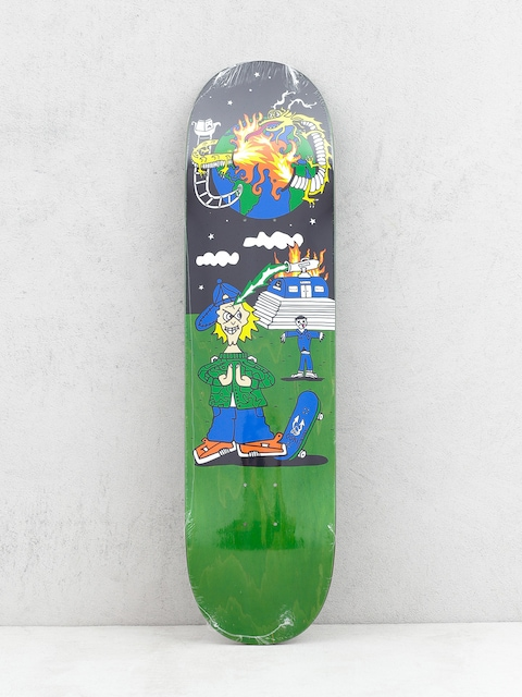 Deck Polar Skate Rozenberg Police Station (green/multi)