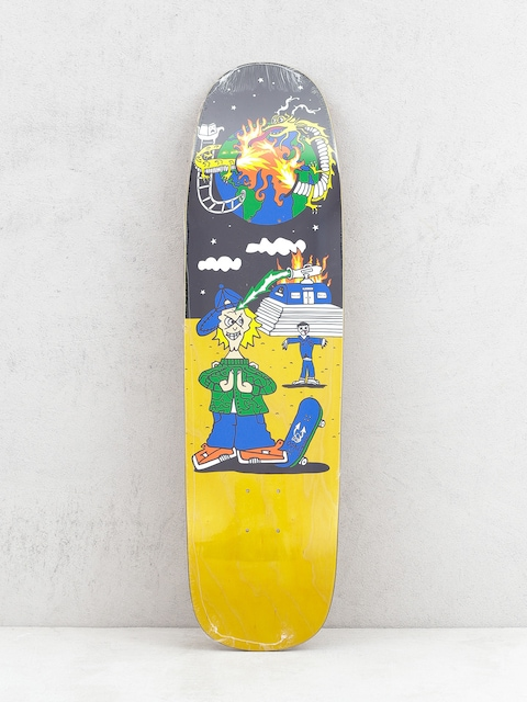 Deck Polar Skate Rozenberg Police Station P9 (yellow/multi)