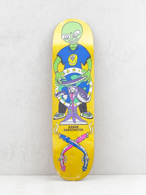 Deck Polar Skate Herrington Global Affairs (yellow/multi)