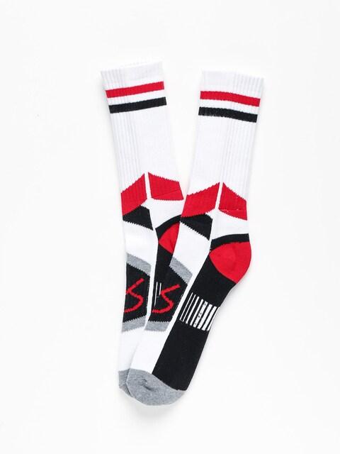 Skarpetki Es Es Asi Tech (white/red)