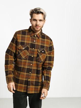 Koszula Brixton Bowery Flannel Ls (brown/gold)