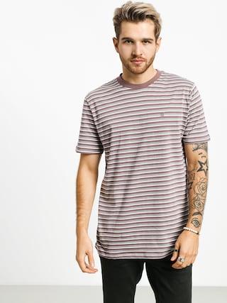 T-shirt Brixton Hilt Mini Stripe (mauve/aluminum)