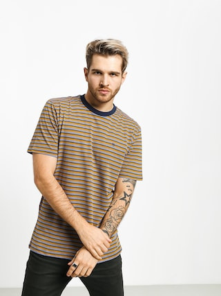 T-shirt Brixton Hilt Mini Stripe (twilight blue/washed navy)