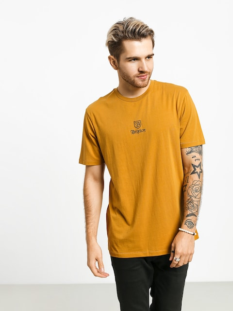 T-shirt Brixton Main Label II Prt (maize)