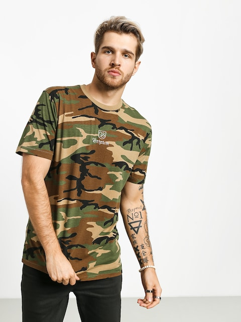 T-shirt Brixton Main Label II Prt (woodland camo)