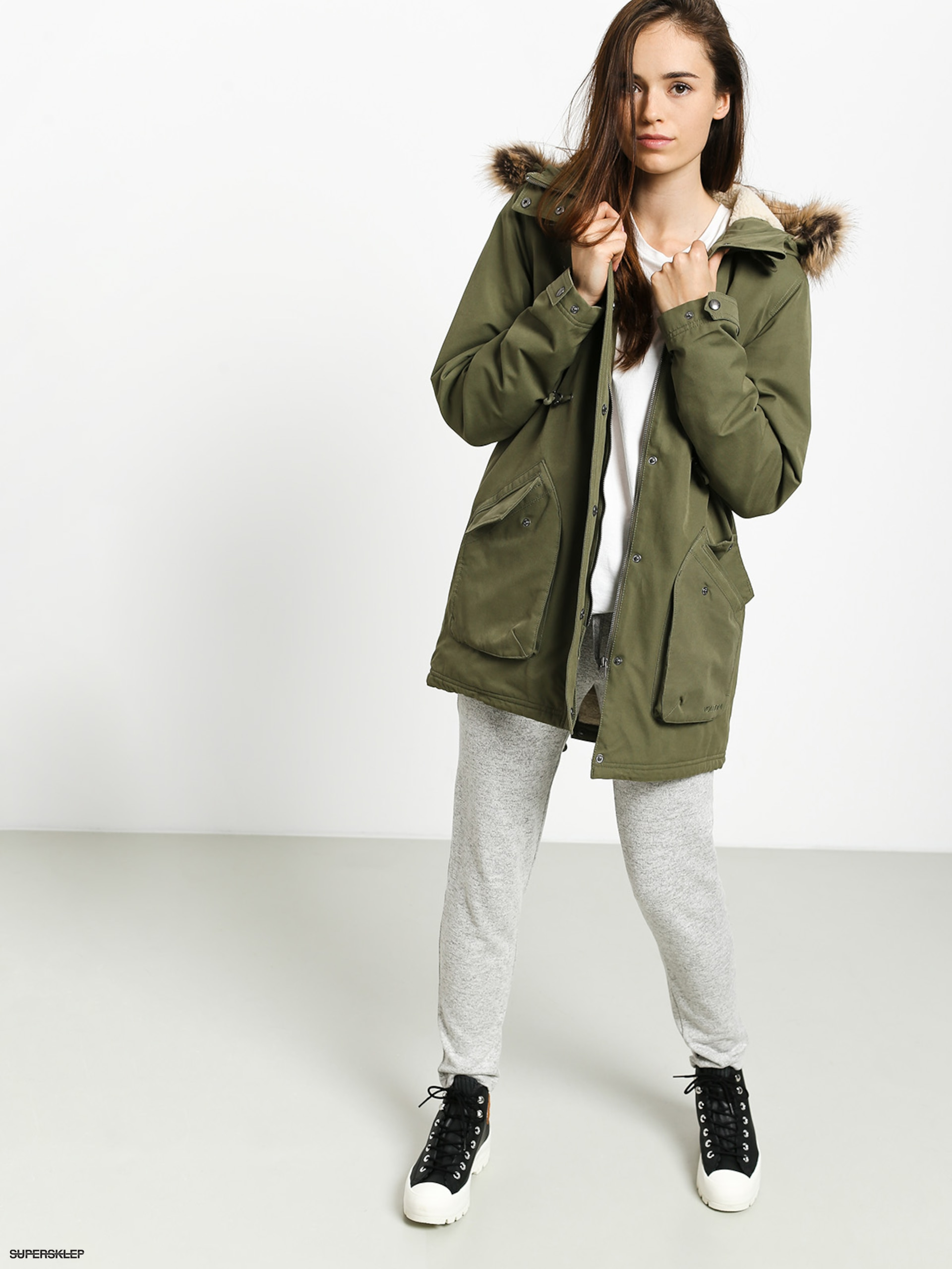 Kurtka Volcom Less Is More Parka army green combo