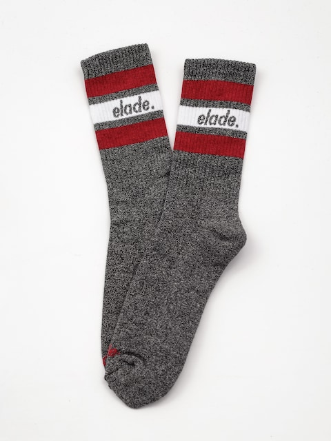 Skarpetki Elade Stripes (dark grey/white/red)