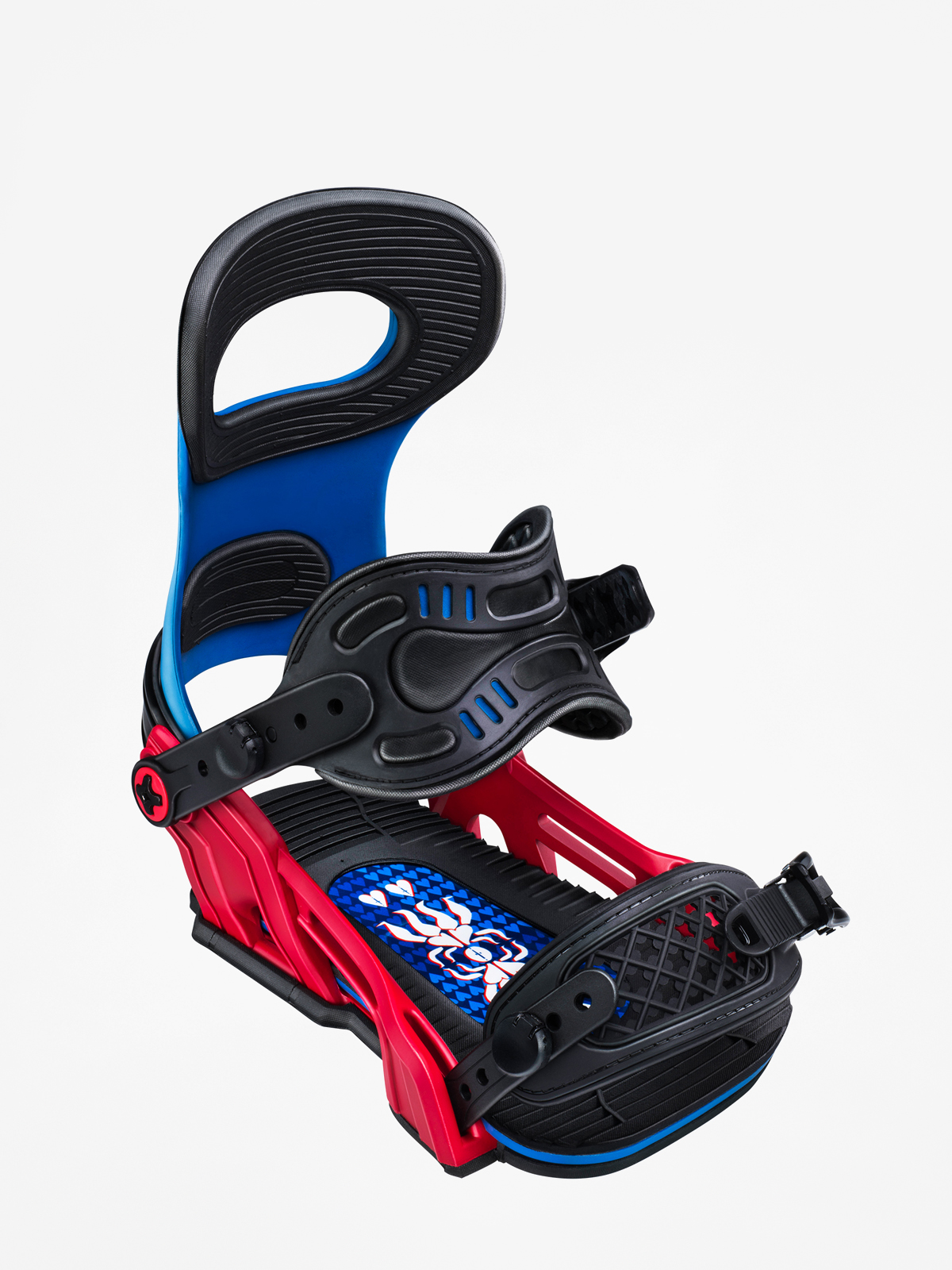 Wiu0105zania snowboardowe Bent Metal Transfer (blue/red)