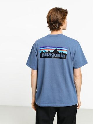 T-shirt Patagonia Logo Responsibili (woolly blue)