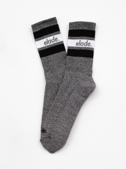 Skarpetki Elade Stripes (dark grey/white/black)