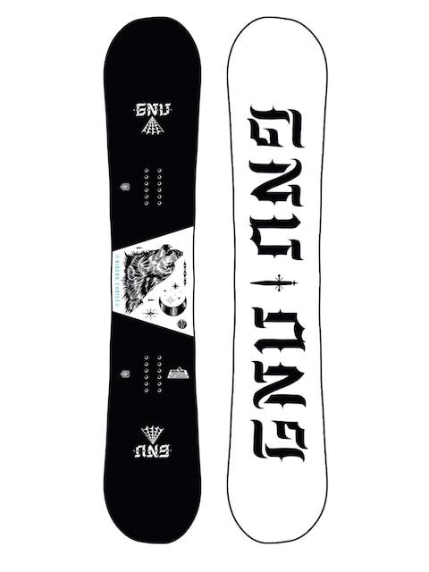 Deska snowboardowa Gnu Asym Riders Choice C2X (wolf/white)