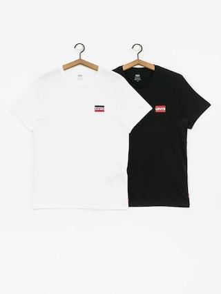 T-shirt Levi's 2 Pack Crewneck Graphic (white/black)