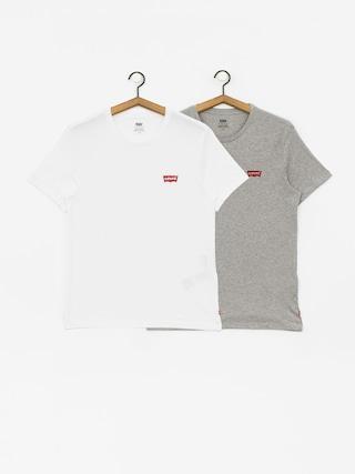 T-shirt Levi's 2 Pack Crewneck Graphic (white/grey heather)