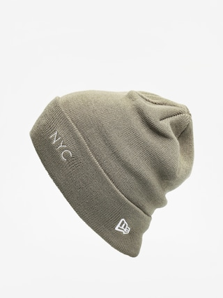 Czapka zimowa New Era Nyc Cuff Knit (olive/optic white)