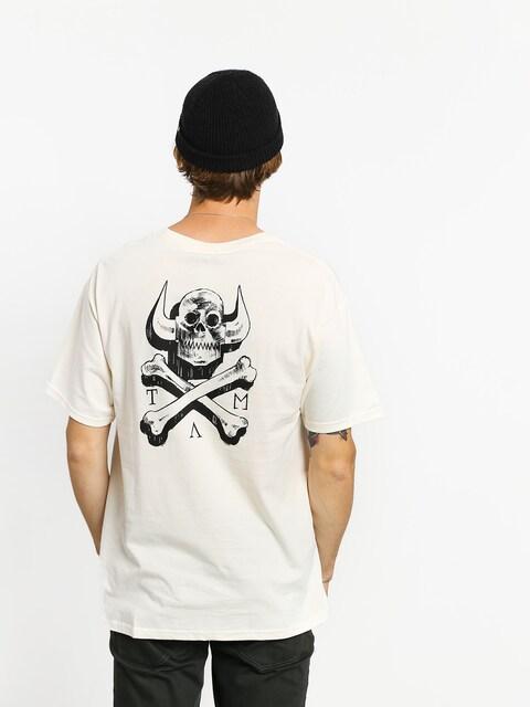 T-shirt Toy Machine Skull X Bones (white)