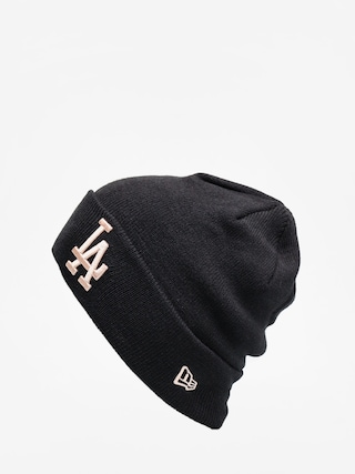 Czapka zimowa New Era League Essential Cuff Knit (black/blush sky)