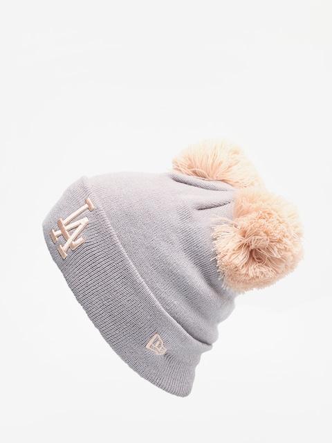 Czapka zimowa New Era Female Double Pom Cuff Knit Wmn (gray/blush sky)