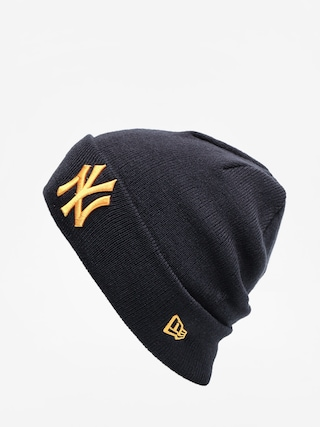 Czapka zimowa New Era League Essential Cuff Knit (navy/rose gold)