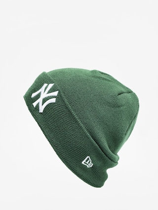 Czapka zimowa New Era League Essential Cuff Knit (green/optic white)