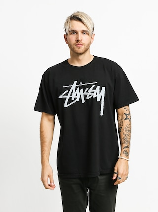 T-shirt Stussy Stock Pig Dyed (black)