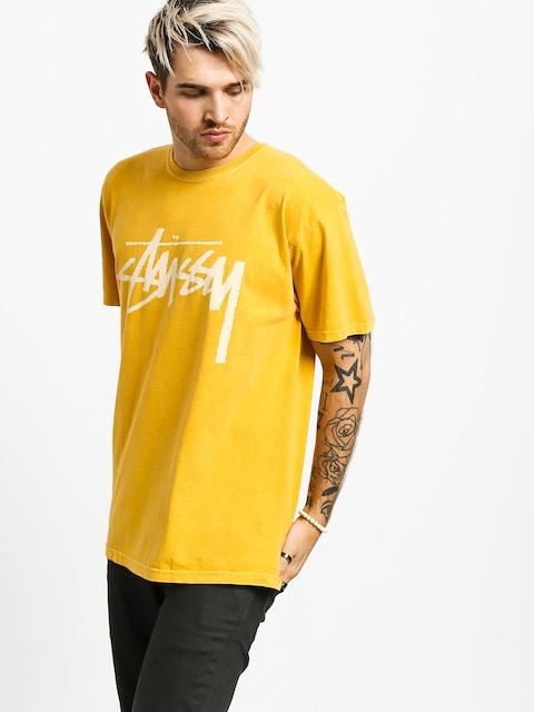 T-shirt Stussy Stock Pig Dyed (mustard)