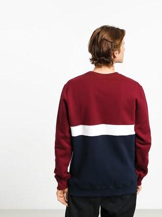 Bluza Elade Colour Block (maroon/white/navy blue)