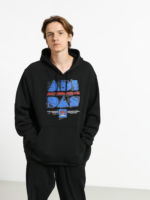 Bluza z kapturem adidas Toolkit HD (black/blue/scarlet)