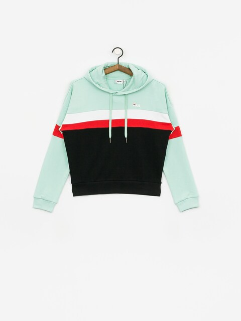 Bluza z kapturem Fila Ella HD Wmn (mist green/black/bright white/true red)
