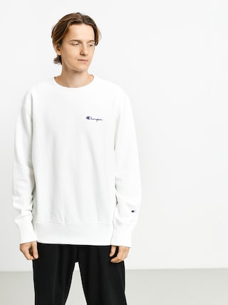 Bluza Champion Premium Reverse Weave Crewneck Left Chest Logo (wht)