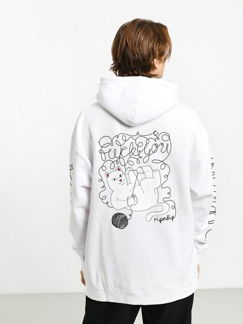 Bluza z kapturem RipNDip Tangled HD (white)