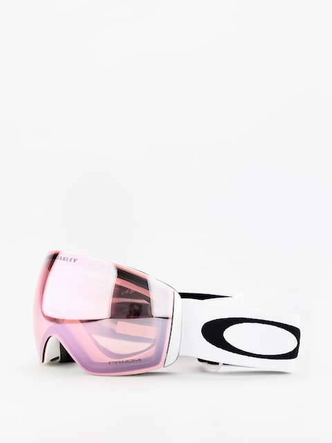 Gogle Oakley Flight Deck (matte white/prizm hi pink iridium)