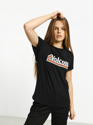 T-shirt Volcom Keep Goin Ringer Wmn (black)