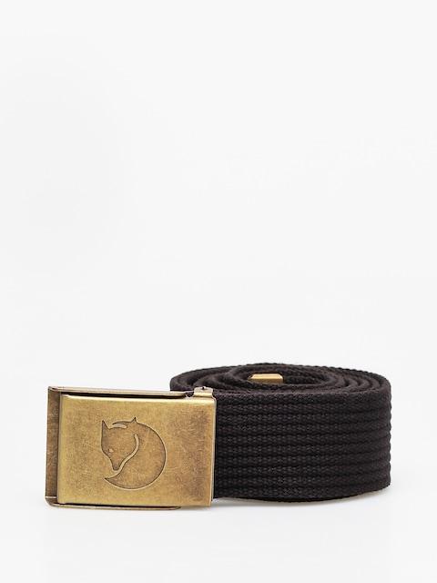 Pasek Fjallraven Canvas Brass Belt (black)