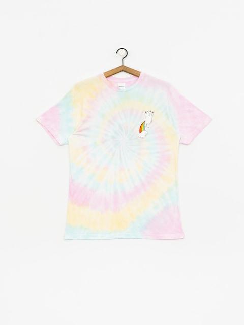 T-shirt RipNDip Double Nerm Rainbow (pastel spiral dye)