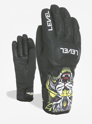 Ru0119kawice Level Race Jr (pk black)