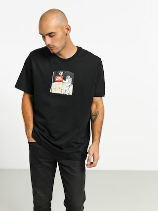 T-shirt Nike SB Fake Landing Fs (black/multi color)