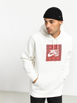 Bluza z kapturem Nike SB Nomad Hbr HD (sail/bright crimson)