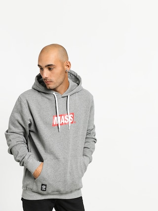 Bluza z kapturem MassDnm Big Box Medium Logo HD (light heather grey)