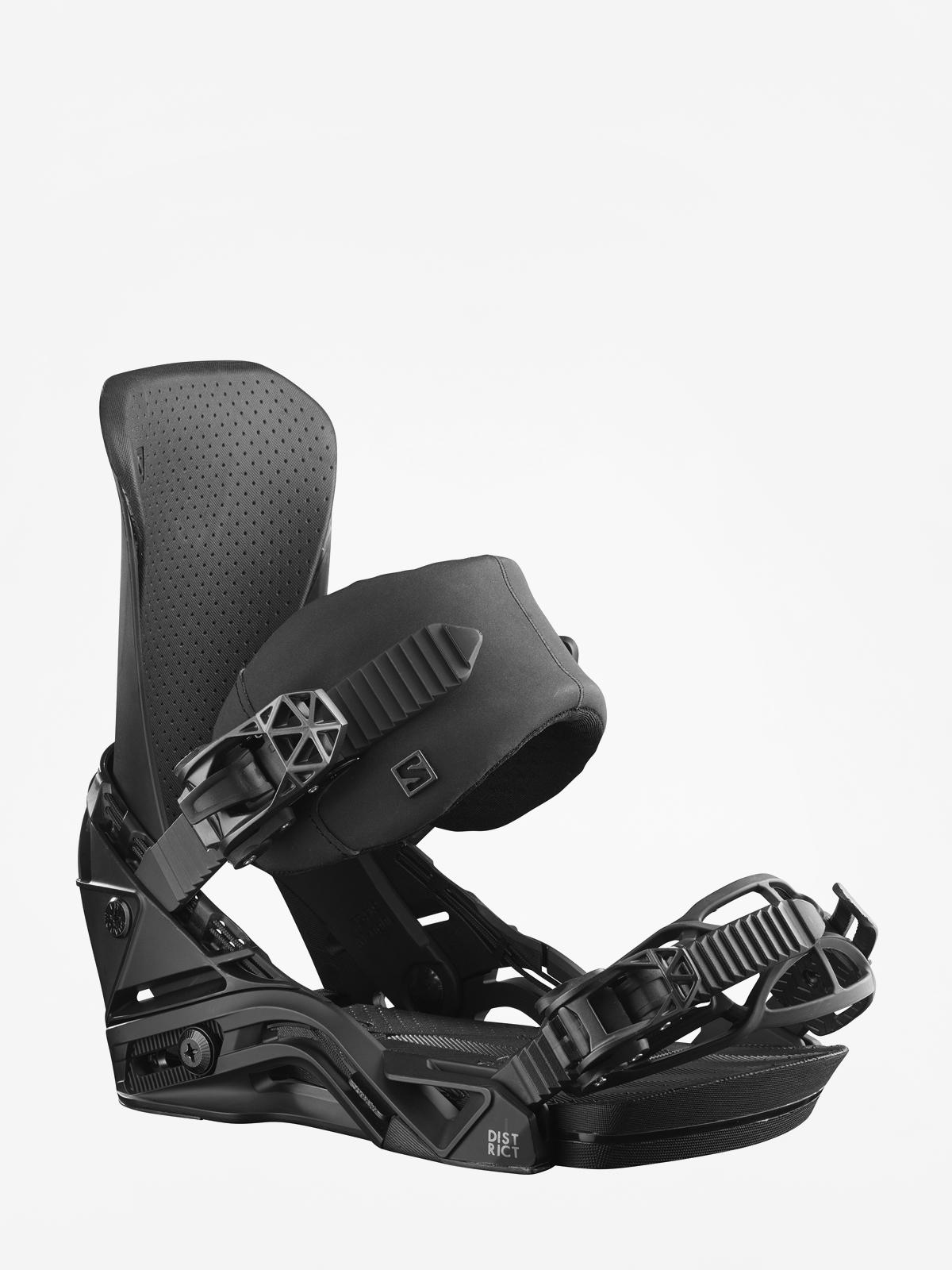 Męskie Wiązania snowboardowe Salomon District (black)