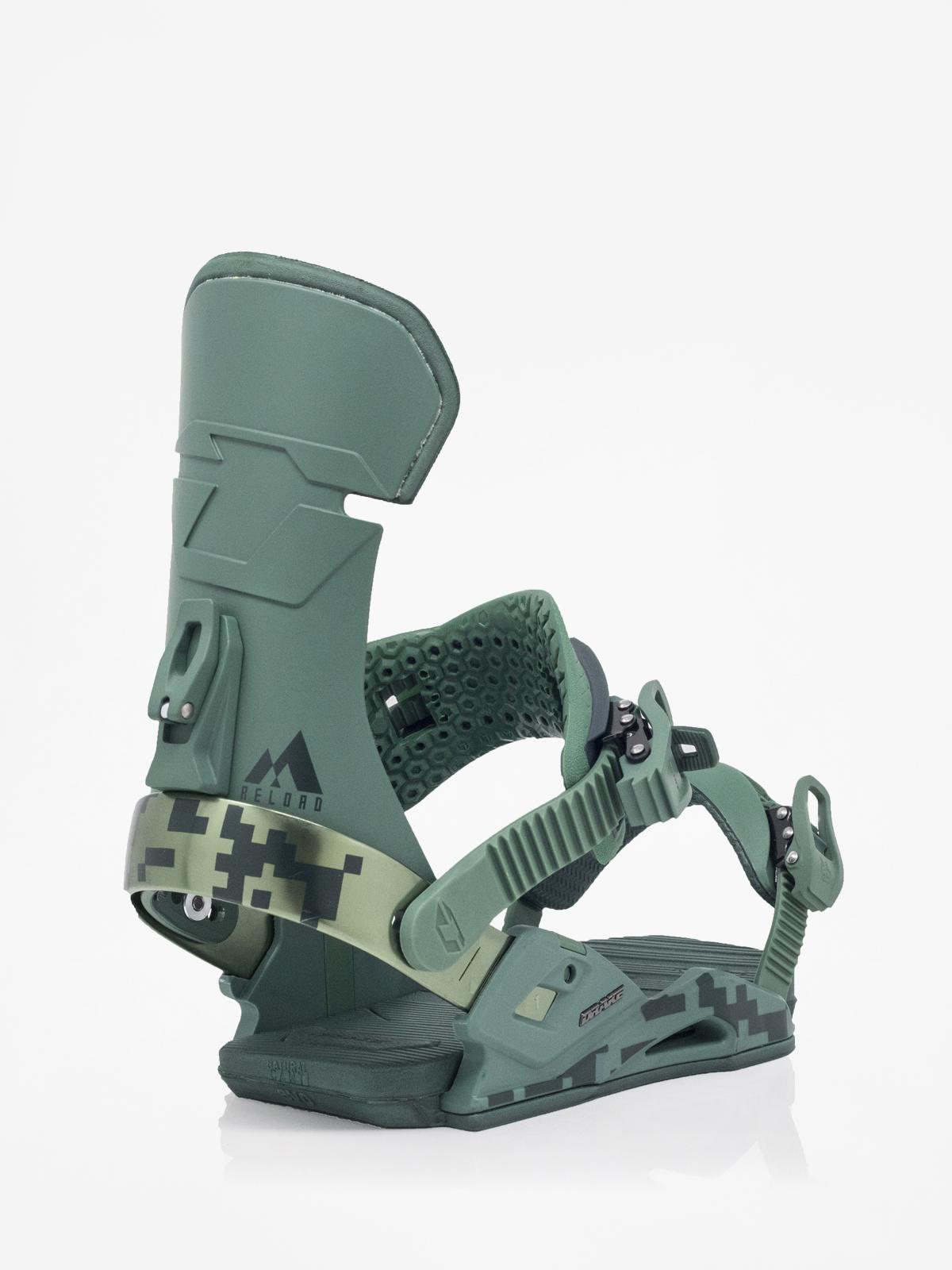 Wiązania snowboardowe Drake Reload (green camo)