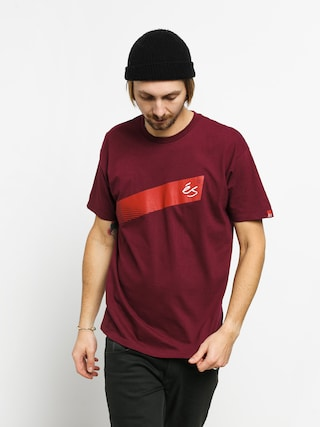 T-shirt Es Script Stripe (burgundy)