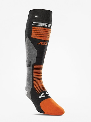 Skarpety ThirtyTwo Asi Merino Vapor (black/orange)