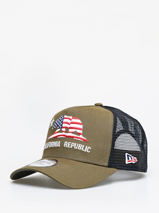 Czapka z daszkiem New Era Canvas Cali Trucker ZD (olive)