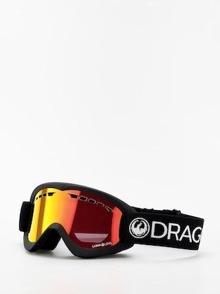 Gogle Dragon DXS (black/lumalens red ion)