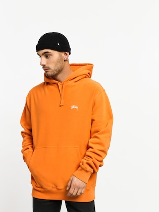 Bluza z kapturem Stussy Stock Logo HD (orange)