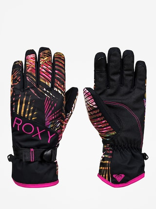 Ru0119kawice Roxy Jetty Gloves Wmn (night palm)