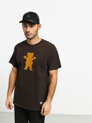 T-shirt Grizzly Griptape Og Bear (chocolate/tan)