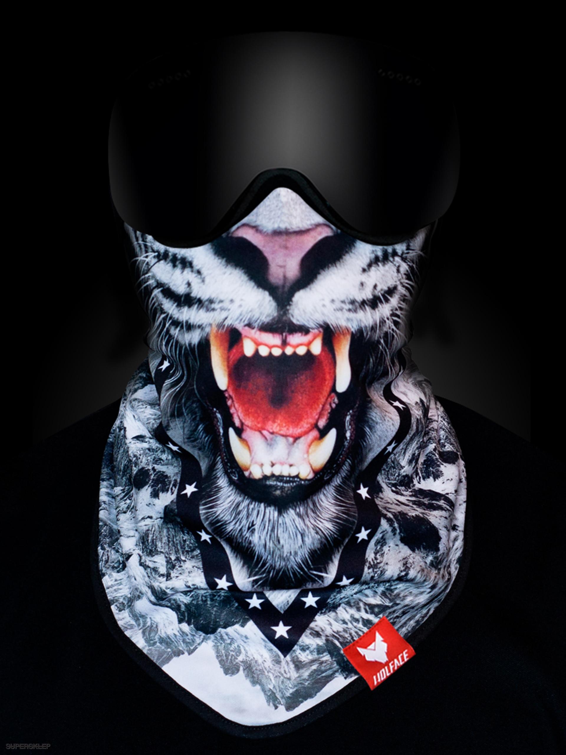 Bandana Wolface Snow Tiger