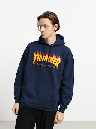 Bluza z kapturem Thrasher Flame HD (navy)